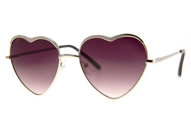 Heart of Glass Sunglasses in Silver