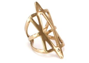 Hexagram Ring in Bronze