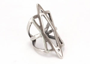 Hexagram Ring in Sterling Silver