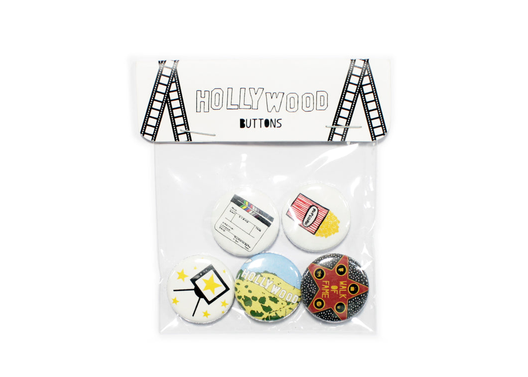 Hollywood Buttons Pack of 5