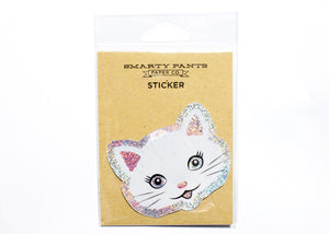 Cat Holographic Glitter Sticker