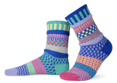 Adult Crew Socks in Iris