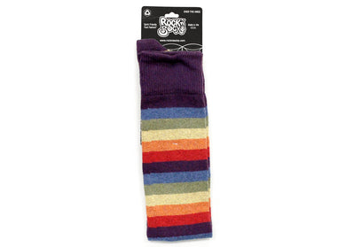 Iris Rainbow Striped Over The Knee Socks