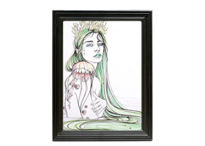 Jellyfish Mermaid Art Print