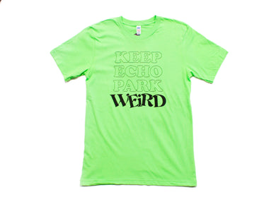 Keep Echo Park Weird Tee - Neon Lime Green
