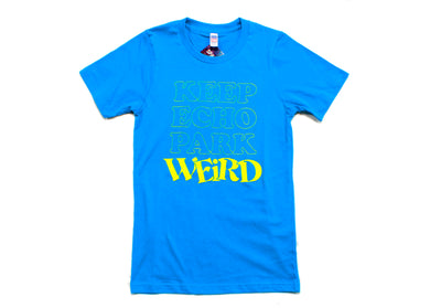Keep Echo Park Weird Tee - Neon Pool Blue