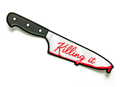 Killing It Knife Sticker