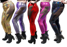 Lightning Leggings in Black Holo Oil Slick