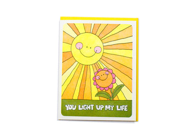 You Light Up My Life Card