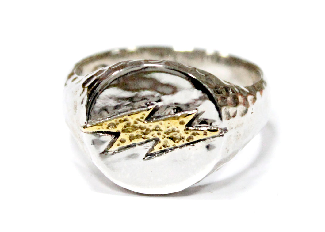 Lightning Band in Silver