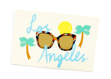 Los Angeles Sunglasses Postcard