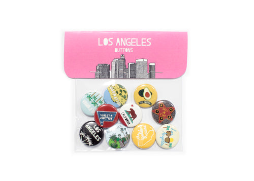 Los Angeles Buttons Pack of 10
