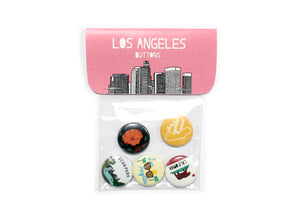 Los Angeles Buttons Pack of 5