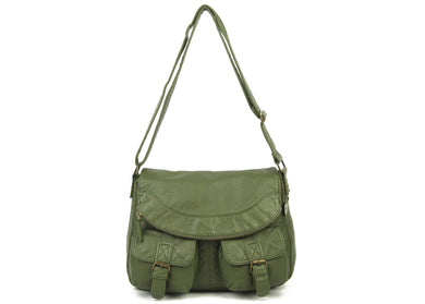 The Annabell Messenger Bag in Army Green