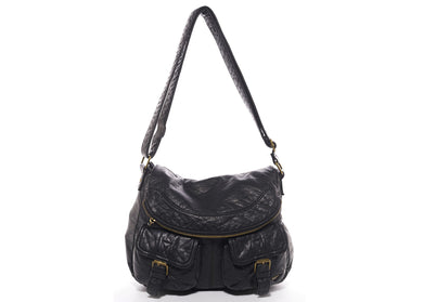 The Annabell Messenger Bag in Black