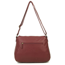 The Annabell Messenger Bag in Burgundy