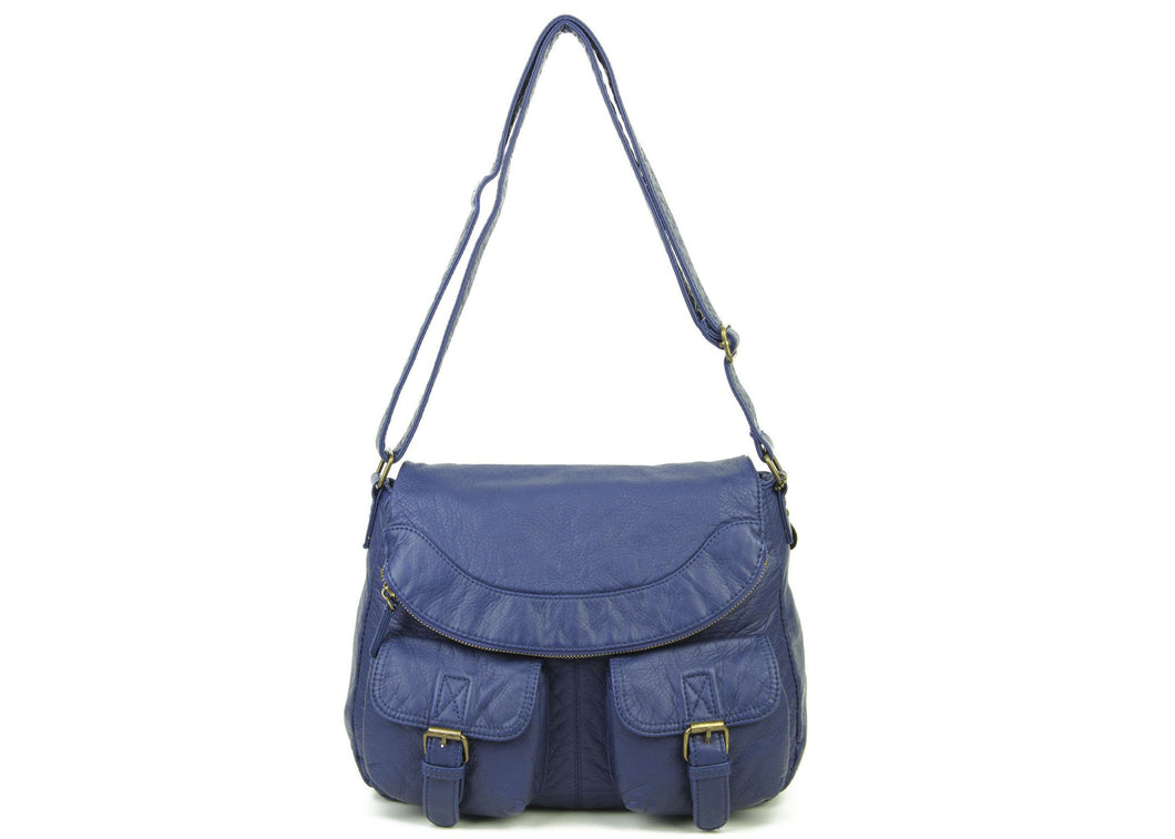 The Annabell Messenger Bag in Navy Blue