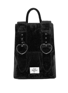 Madeline Backpack in Black Corduroy