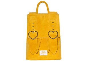 Madeline Backpack in Mustard Yellow Corduroy