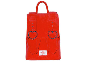 Madeline Backpack in Red Corduroy