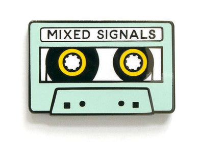 Mixed Signals Enamel Pin
