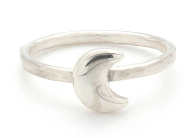 Moon Stacker Ring in Silver