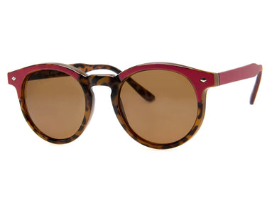 Mumbles Sunglasses in Burgundy & Tortoise