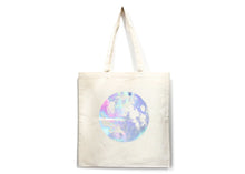 Holographic Full Moon Tote Bag in Natural
