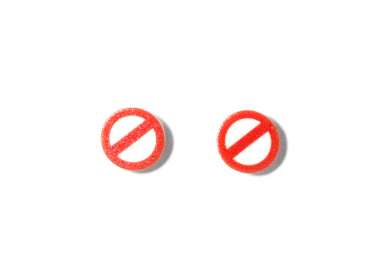No Symbol Earrings