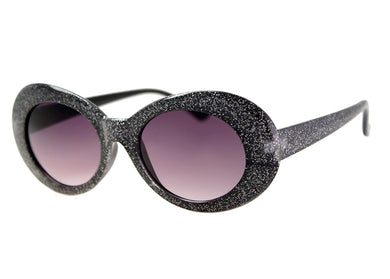 Opera Sunglasses in Black Glitter