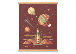 Orion Space Shuttle Art Print