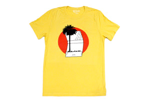 Palm Tree Matchbook Tee in Yellow