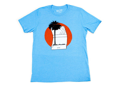 Palm Tree Matchbook Tee in Blue