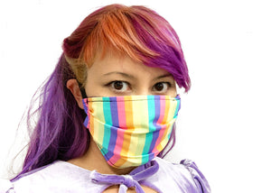 Pastel Rainbow Reversible Face Mask