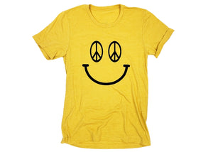 Peace Sign Smiley Tee