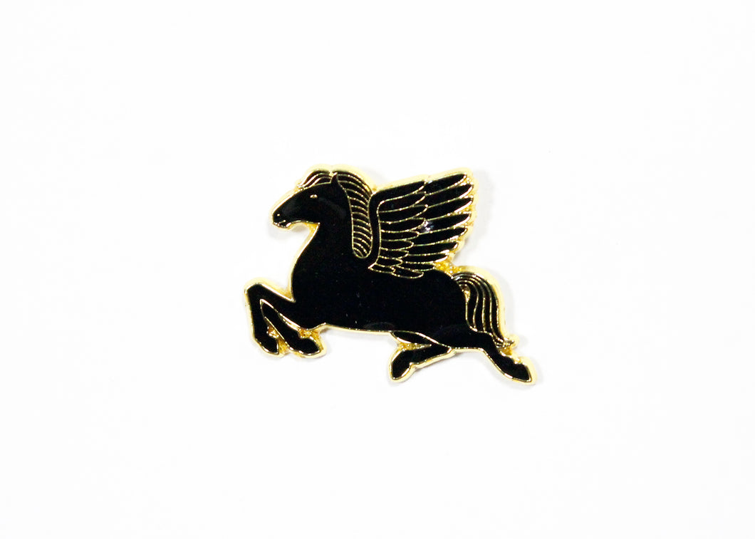 Pegasus Enamel Pin Black