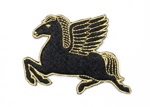 Pegasus Iron-On Patch Black