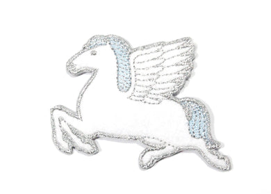 Pegasus Iron-On Patch White