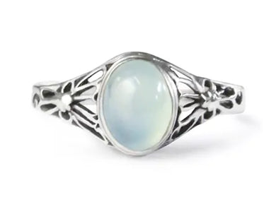 Daisy Ring With Peruvian Chalcedony