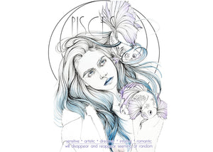 Pisces Watercolor Print