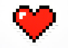 Pixel Heart Sticker