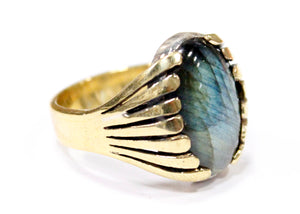 Plexus Ring in Brass
