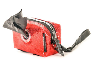 Poopy Cute Pouch in Glam Red