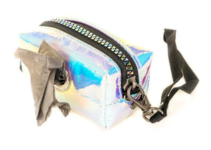 Poopy Cute Pouch in Mirror White Iridescent