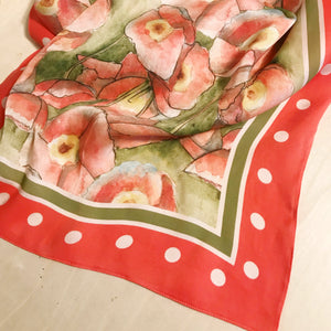 Poppy Flower Scarf