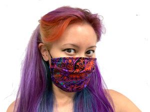 Purple Paisley Reversible Face Mask