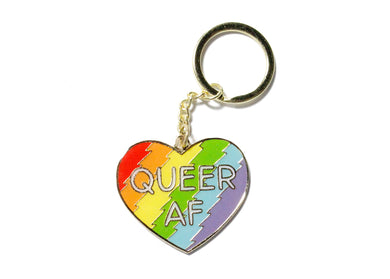 Queer AF Key Chain