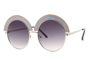 Rainbow Sunglasses in Silver/Smoke