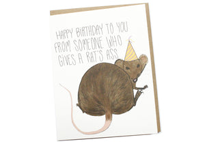 Rat's Ass Birthday Card