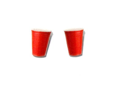 Red Cup Earrings